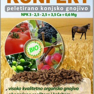 konfert - peletirano konjsko gnojivo